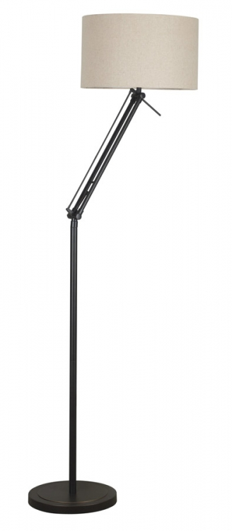 Hydra 1 Light Adjustable Floor Lamp - Oil Rubbed Bronze - Kenroy Home