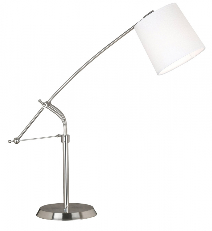 Reeler 1 Light Adjustable Table Lamp - Brushed Steel - Kenroy Home