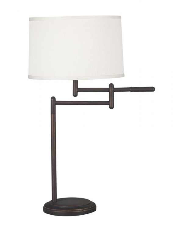 Theta 1 Light Swing Arm Table Lamp - Copper Bronze