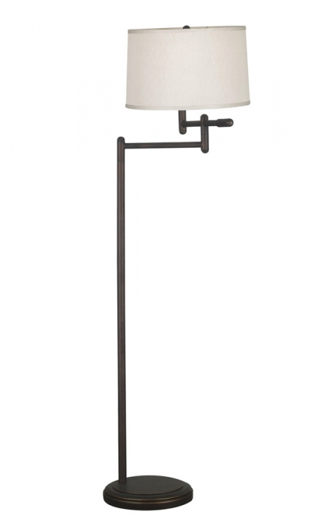 Theta 1 Light Swing Arm Floor Lamp - Copper Bronze