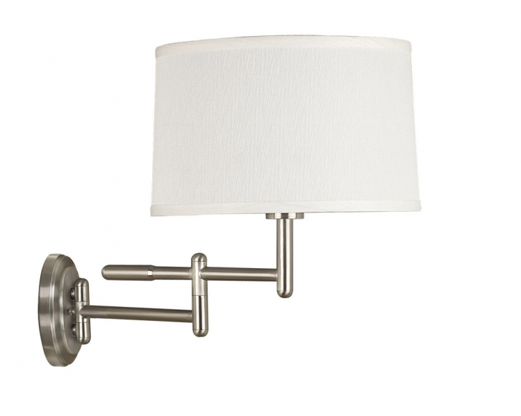 Theta 1 Light Wall Swing Arm Lamp - Brushed Steel