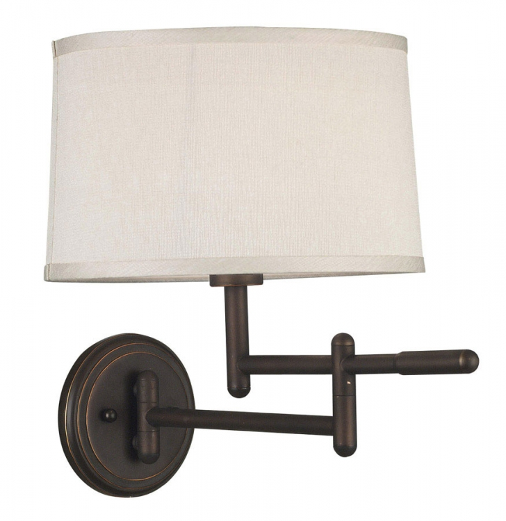 Theta 1 Light Wall Swing Arm Lamp - Copper Bronze