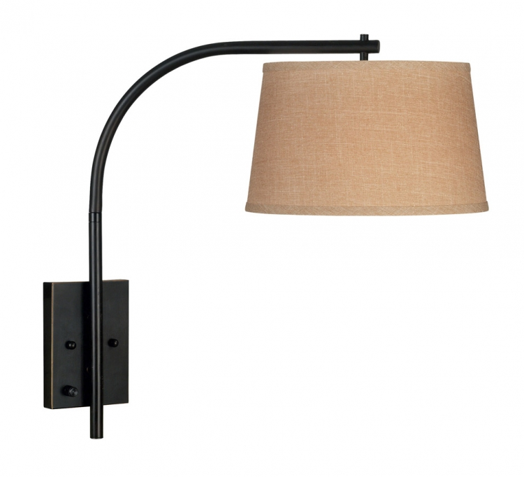 Sweep 1 Light Wall Swing Arm Lamp - Oil Rubbed Bronze