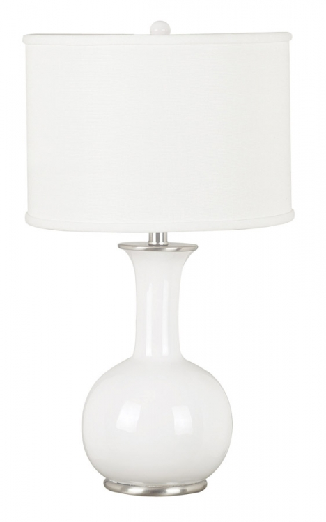 Mimic 1 Light Table Lamp - Gloss White - Kenroy Home