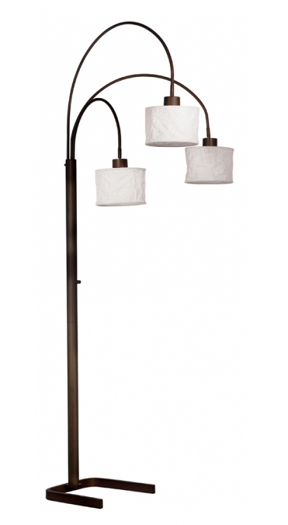 Crush 3 Light Arc Lamp - Kenroy Home