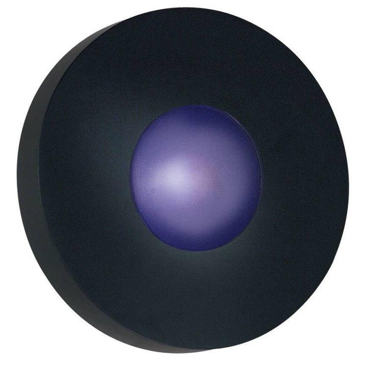Burst Small Round Outdoor Light - Black - Kenroy Home
