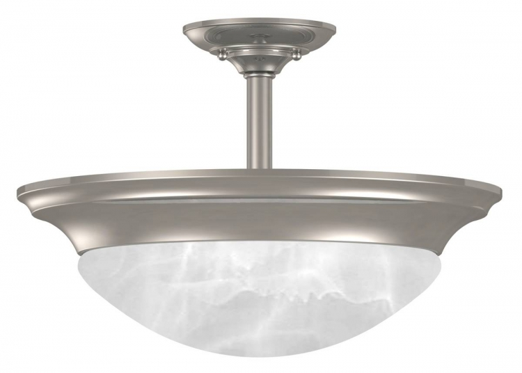 Dickens Semi-Flush - Brushed Steel