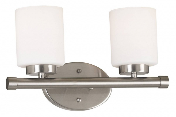 Mezzanine 2 Light Vanity - Brushed Steel