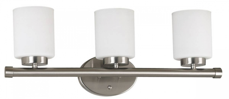 Mezzanine 3 Light Vanity - Brushed Steel