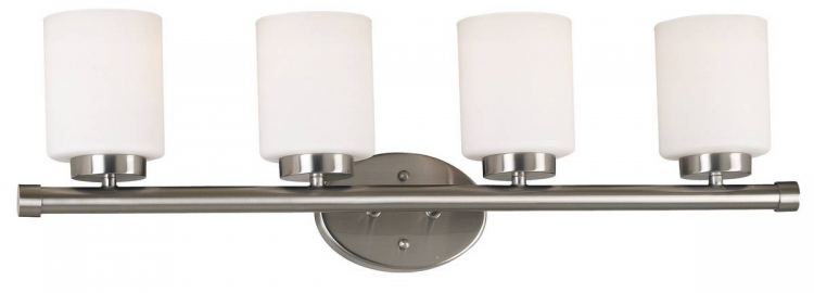 Mezzanine 4 Light Vanity - Brushed Steel