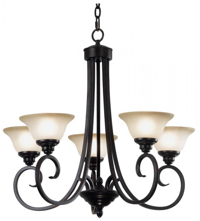 Welles 5 Light Chandelier - Oil Rubbed Bronze - Kenroy Home
