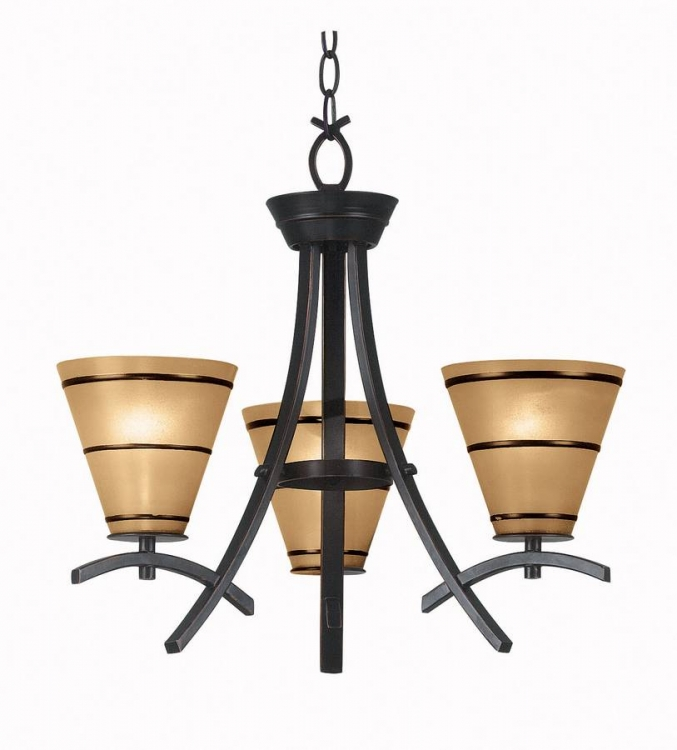 Wright 3 Light Chandelier - Kenroy Home