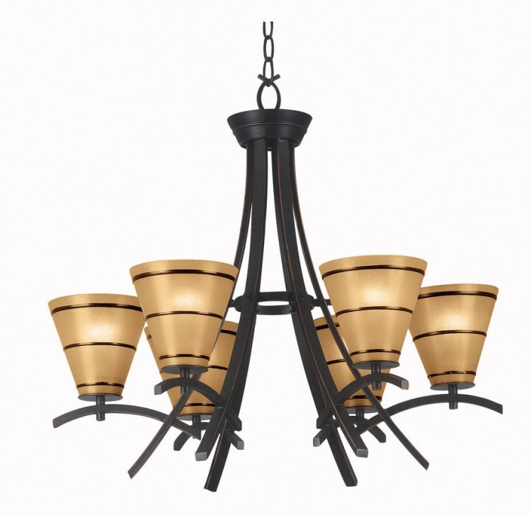 Wright 6 Light Chandelier - Kenroy Home