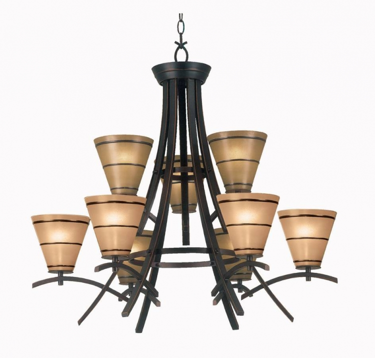 Wright 9 Light Chandelier - Kenroy Home