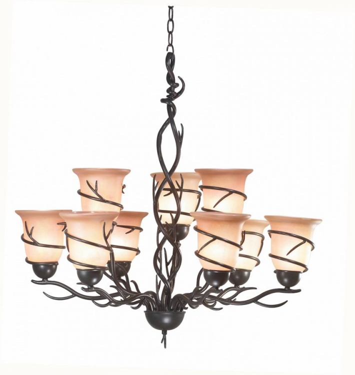 Twigs 9 Light Chandelier
