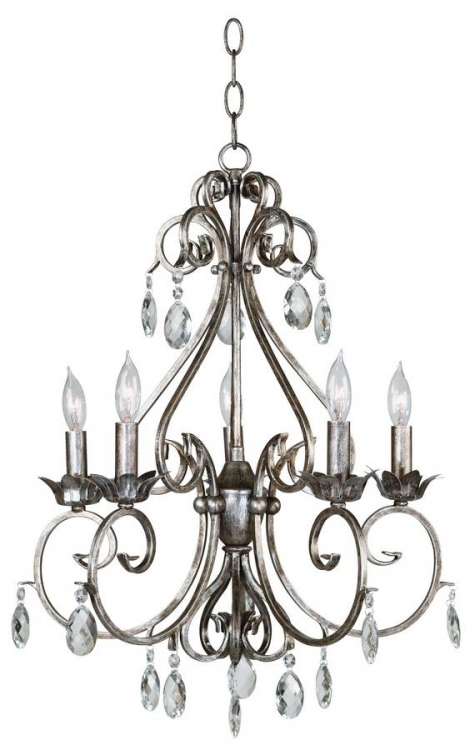 Antoinette 5 Light Chandelier - Kenroy Home