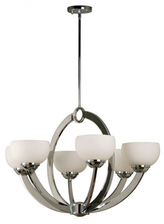 Nova 6 Light Chandelier - Kenroy Home
