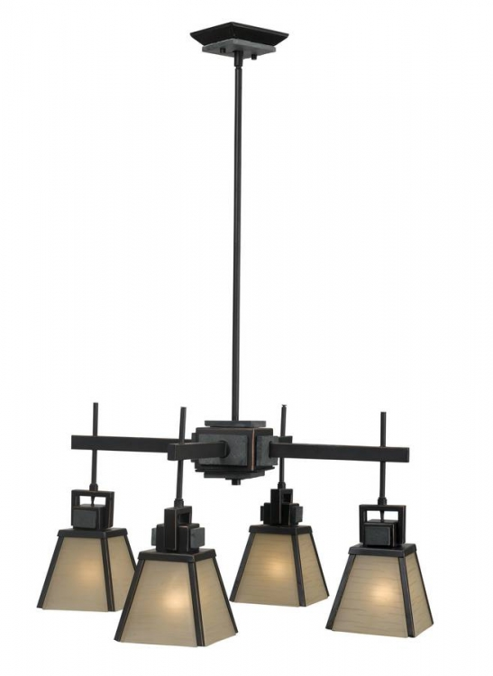 Clean Slate 4 Light Chandelier - Kenroy Home
