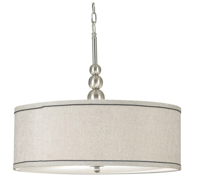 Margot 3 Light Pendant - Brushed Steel - Kenroy Home