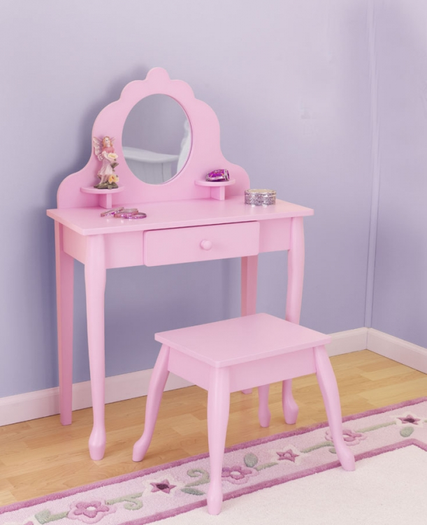 Medium Diva Table and Stool - Pink