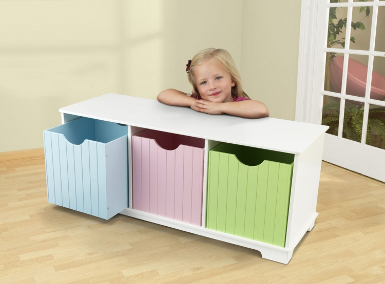 Nantucket Pastel Storage Bench - KidKraft