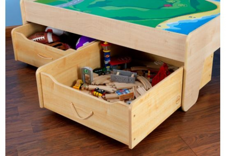 Train Trundle Drawer - Natural