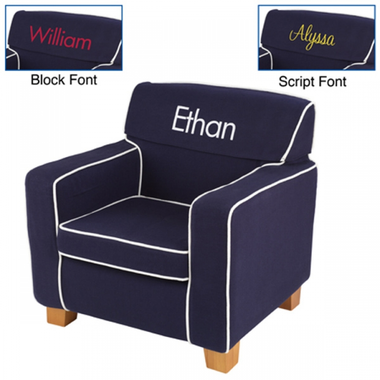 Laguna Chair Navy with Slip Cover