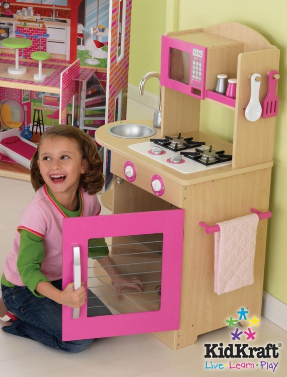 Pink Wooden Kitchen - KidKraft