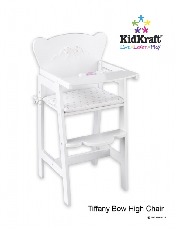 Tiffany Bow Lil Doll High Chair - Kidkraft