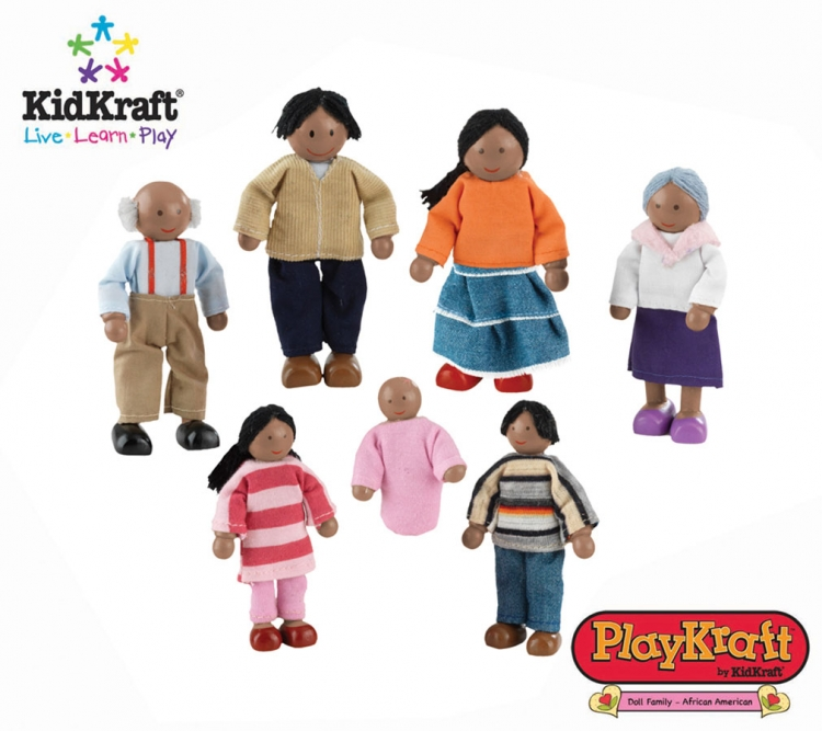 Doll Family of 7 African American - PlayKraft by Kidkraft