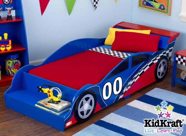 Racecar Toddler Cot Bed