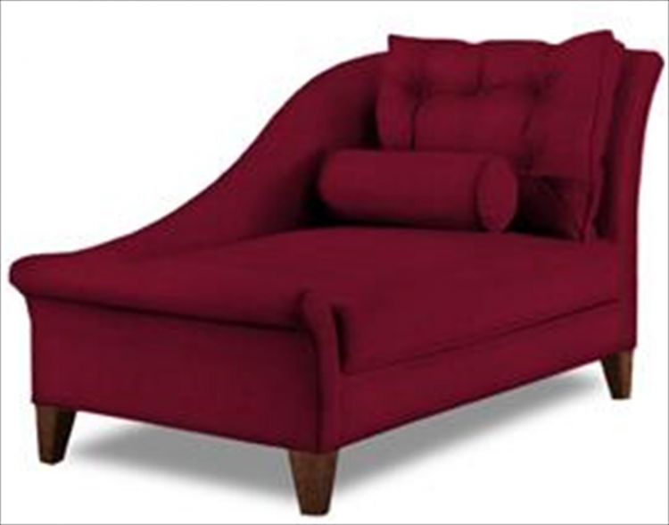 Lincoln Chaise Lounge - Microsuede Cinnabar
