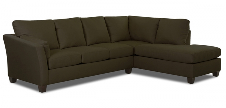 Drew Sectional Sofa - Microsuede Thyme