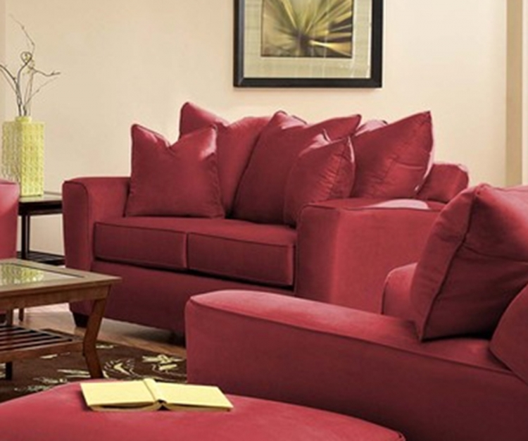 Heather Loveseat - Microsuede Cinnabar