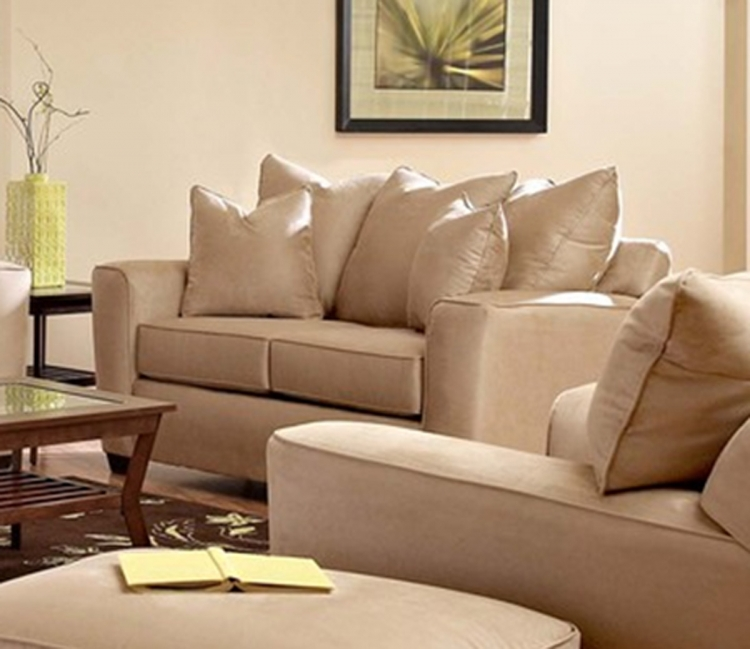 Heather Loveseat - Microsuede Khaki