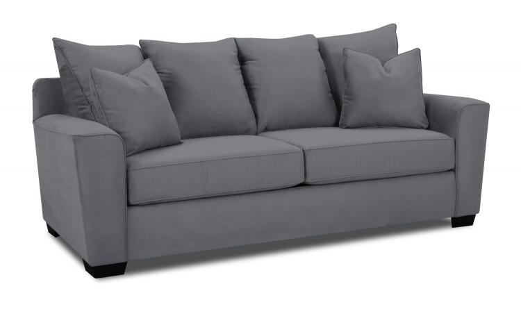 Heather Sofa Set - Microsuede Charcoal