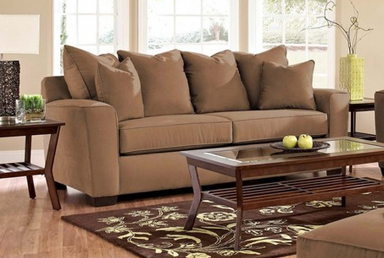 Heather Sofa - Microsuede Chocolate