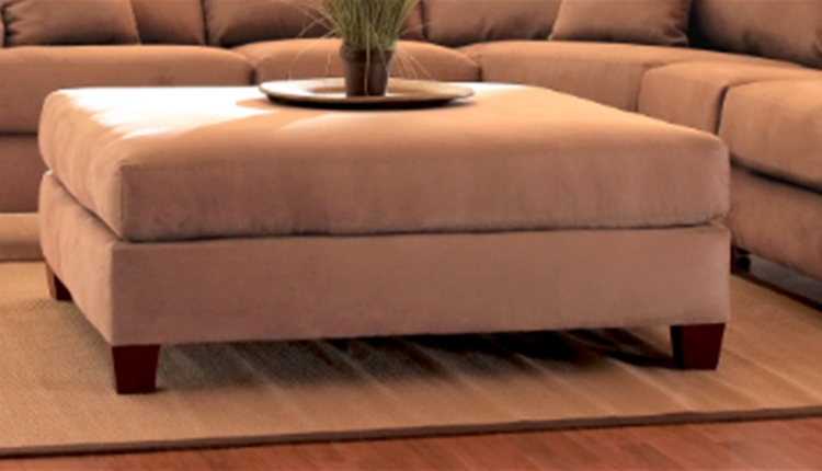 Canyon Ottoman - Microsuede Straw