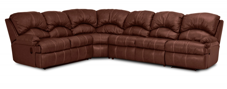 Phoenix Reclining Sectional Sofa Set - Durango Tobacco