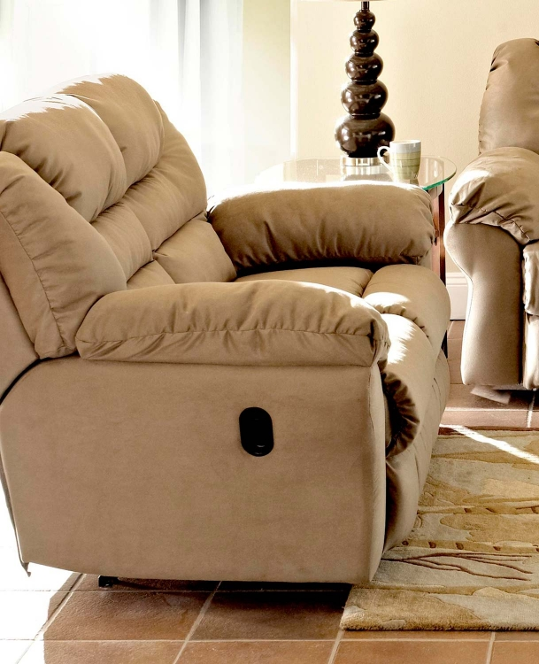 Contempo Power Reclining Loveseat - Manford Brown