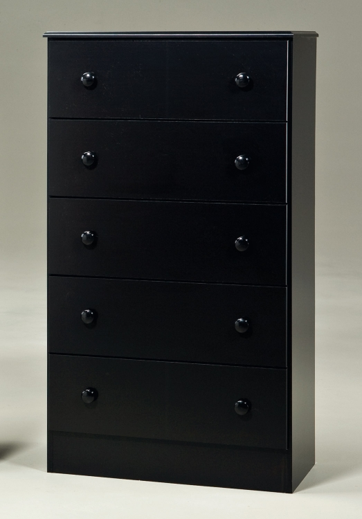 Black 5 Drawer Chest
