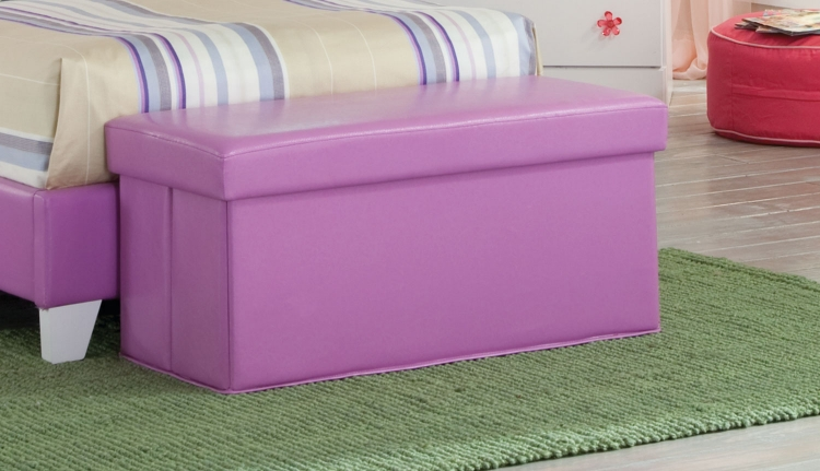 Savannah Storage Bench - Lavender