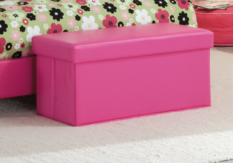 Savannah Storage Bench - Pink