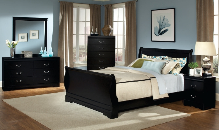 Johnce Sleigh Bedroom Set