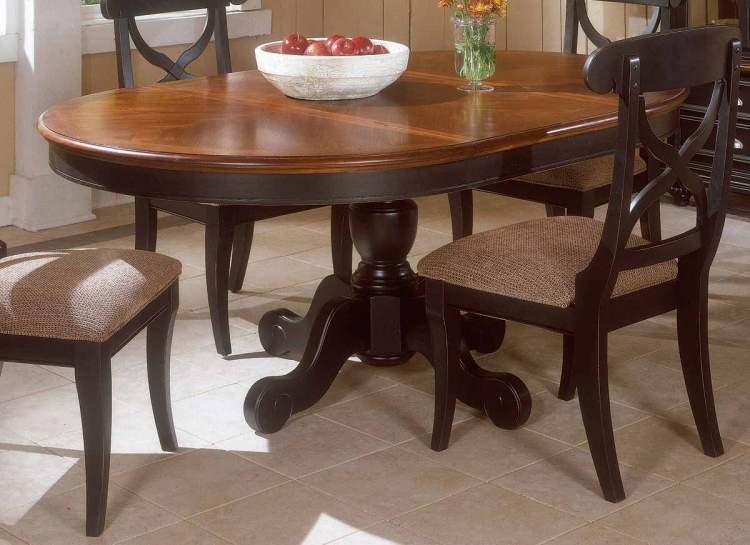 Salem Creek Round Pedestal Extension Table