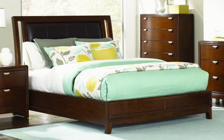 Skyline Leather Platform Bed - Legacy Classic