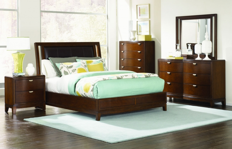 Skyline Leather Platform Bedroom Set - Legacy Classic