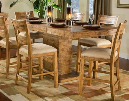 Latitude Rectangular Pedestal Pub Table
