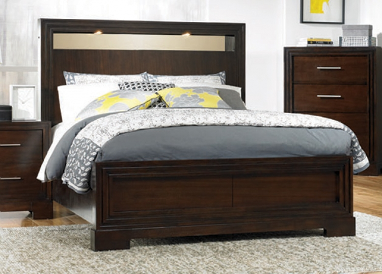 Forum Lighted Panel Bed With Storage - Legacy Classic