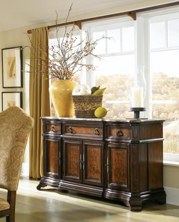 Royal Tradition Credenza with Marble Top - Legacy Classic